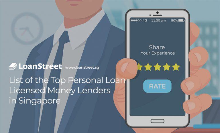 List of Top Personal Loan Licensed Money Lenders in Singapore