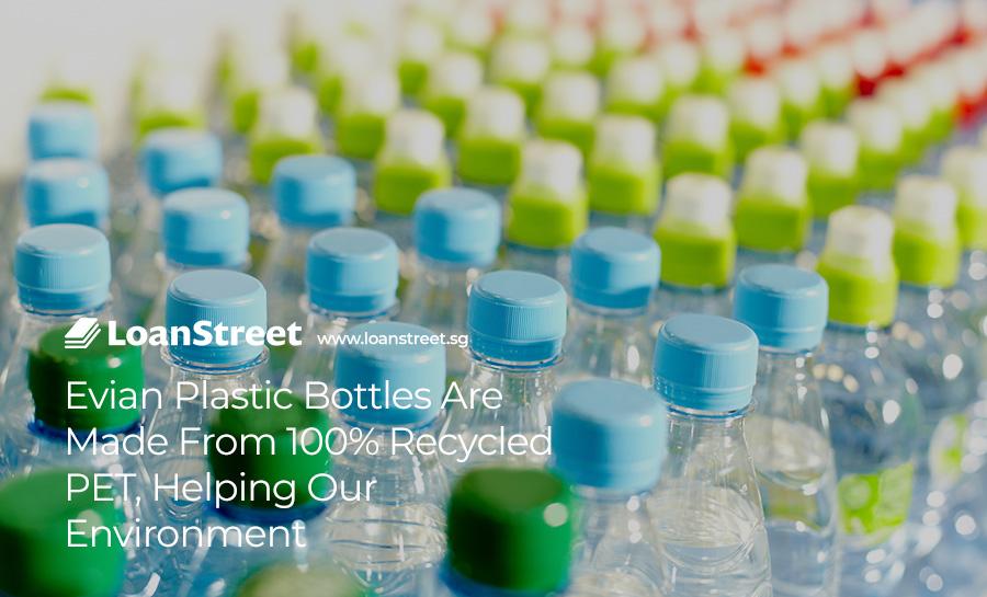 Evian-water-expensive-packaging-bottles-recycled-PET-environmental-friendly-Loan-Street